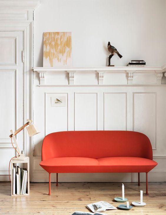 Canapé design rouge