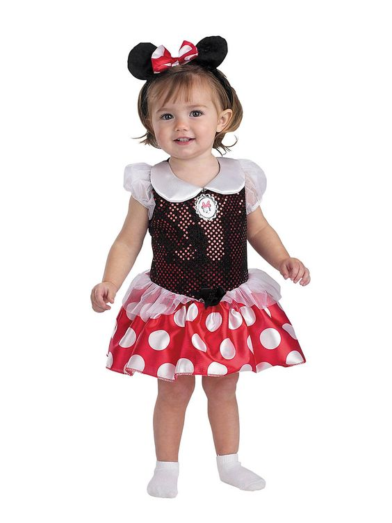 Minnie Mouse Toddler Infant Costume! See more #costume ideas for Halloween and more at CostumeSuperCenter.com