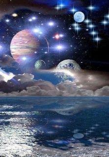 """вАлмазе RU - арт.12984 Алмазная мозаика """"Парад планет"""" [размер 30*40 см.] - 1750 руб. - под заказ"""