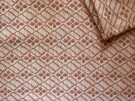 Vintage Fabric 70's Polyester Pink Orange by Freshandswanky