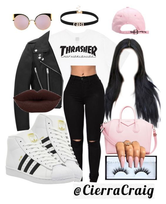 """""""I Don't Need You"""" by cierracraig ❤ liked on Polyvore featuring HUF, adidas…"""
