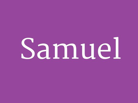 "Samuel – from the collection ""Old-fashioned Baby Names"""