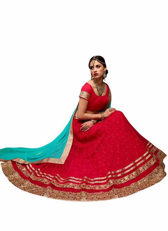 Women's Red Astounding Lehenga Choli Online In Traditional Look ,Veeshack.com | Fashion for the World