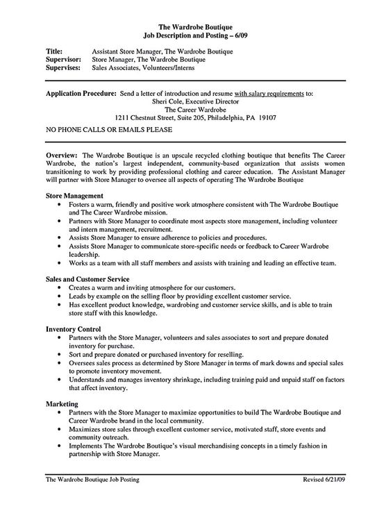 cool Store Assistant Manager Resume That Can Bag You, Check more - retail assistant manager resume