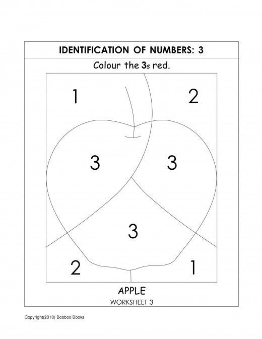 Number recognition worksheets activities – Number 3 Worksheets