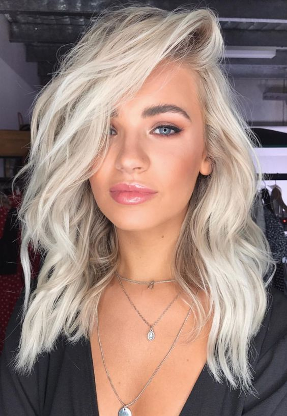 43 Best Platinum Blonde Hair Color And Highlights For 2018
