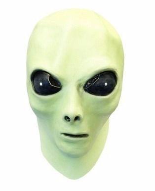 mascara alien glow brilla en la obscuridad c/muñeco d regalo