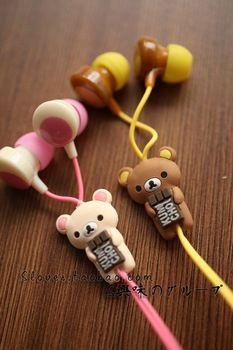 Free shipping of the sell like hot cakes Rilakkuma for children of lovely cartoon design headphones