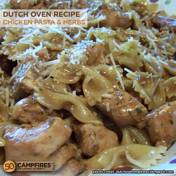 Dutch Oven Chicken Pasta With Herbs Recipe Oven