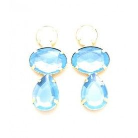 $26 blue and white opal Earrings