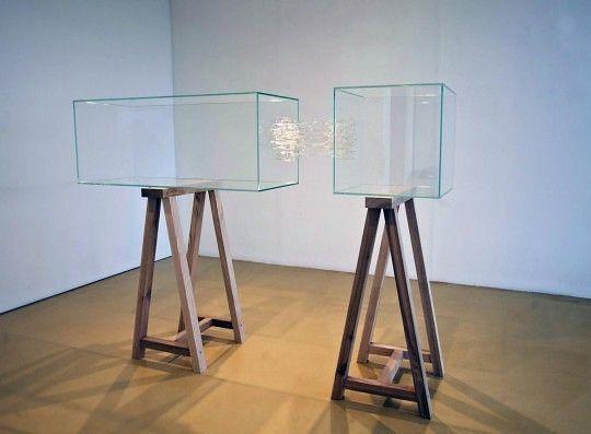 © Julie Legrand, La tête sur les épaules, verre plat, verre pyrex filé et…