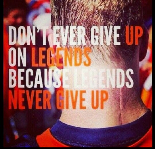 Peyton Manning-notice his scar and the hard work and sacrifice that came with it. Love this.