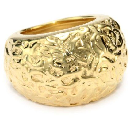 Sterling & Gold Textured Ring