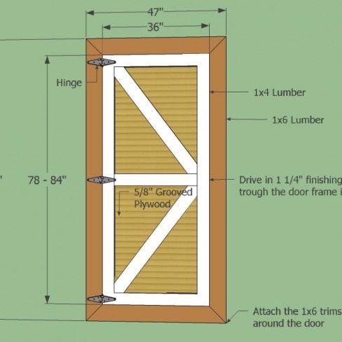 Make A Hinged Barn Door Shedplans In 2020 Shed Plans Barn Door Exterior Sliding Barn Doors
