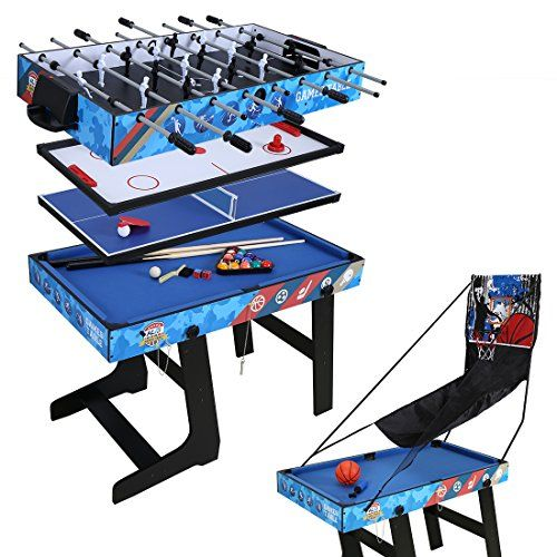 4ft Multi Function 5 In 1 Combo Game Table Hockey Table Foosball Table Pool Table Table Tennis Table Basketball Table Foosball Table Games Foosball Table