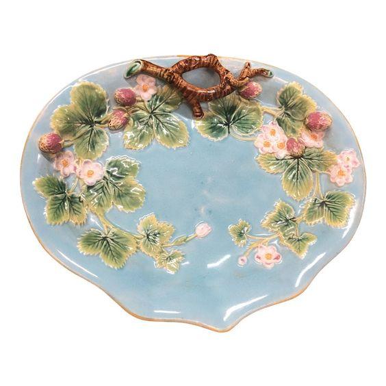 1940s Lefton China Heirloom Elegance Pattern #LEF42 Pink Poppies 7 Leaf Nut or Candy Dish