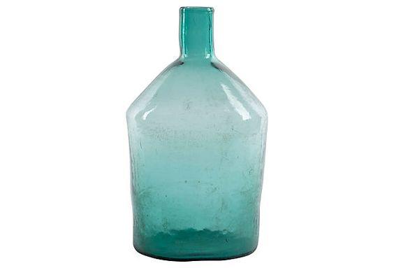 "Turquoise Wine Vessel EUROPE2YOU France  1910  Blue/Green 8""W x 16.5""H ($299.00)  $189.00 OneKingsLane.com"