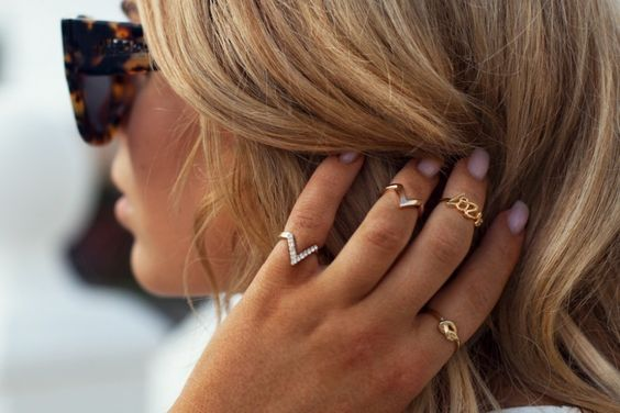 tendência acessórios anéis  - ring trend accessories
