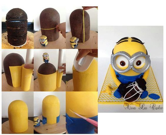 step by step one day minions cake tutorial minions images minion cake ...