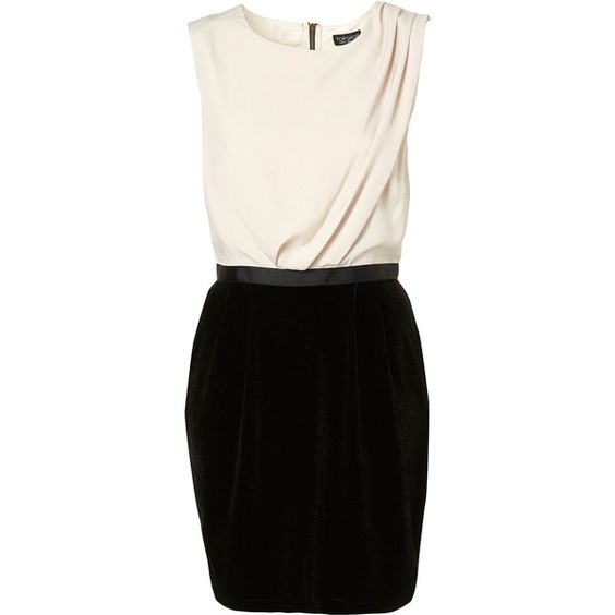 Velvet Colour Block Shift Dress ($36) ❤ liked on Polyvore featuring dresses, vestidos, платья, haljine, vestiti, women, shift dress, color block dress, exposed zipper dress and colorblocked dress