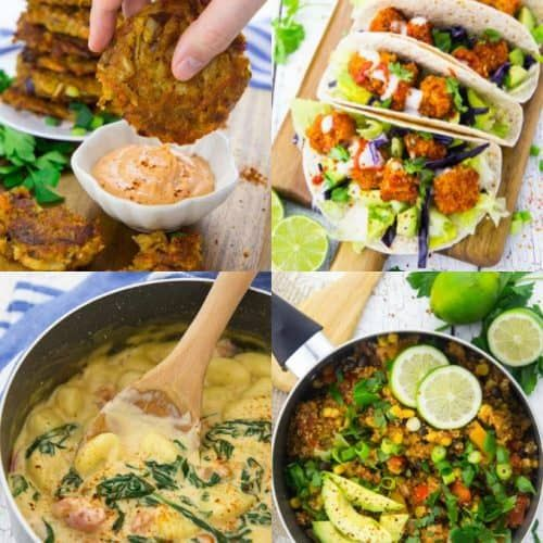 A Collage Of Four Vegan Recipes That Are The Best Vegan Recipes On