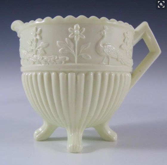 Sowerby Glass, Queen's Ware Ivory Milk Glass Creamer