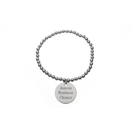 Bracelet perles et médaille - L'Atelier d'Amaya