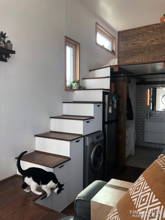 100 Off Grid Beautiful Fully Equipped 26 Thow W Loft Closets 14 In 2020 Tiny Houses For Sale Bookshelves In Bedroom Queen Sized Bedroom