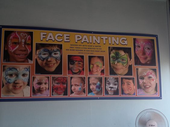Hershey Park Face Painting Board 4 Face Painting Display