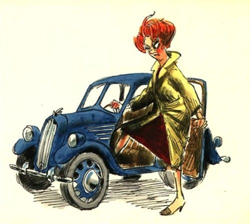 Concept art for Madame Medusa in The Rescuers