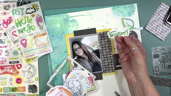 Scrapbooking Process 516 Watercolor Wednesdays (2015:150/180)