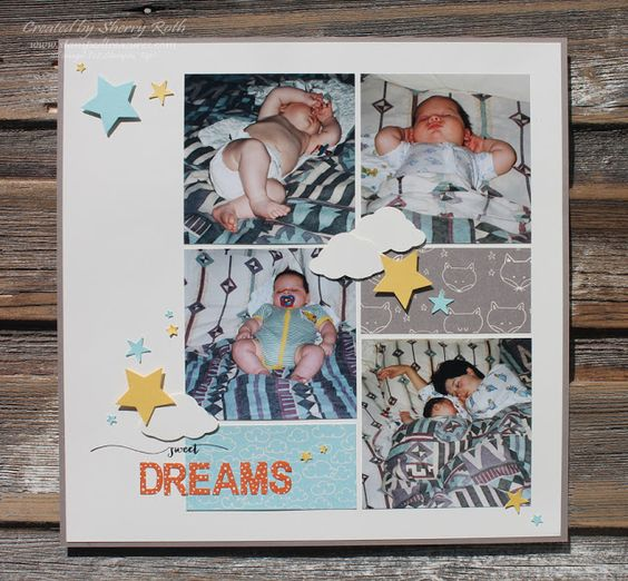 Sherry's Stamped Treasures: Sweet Dreams Layout