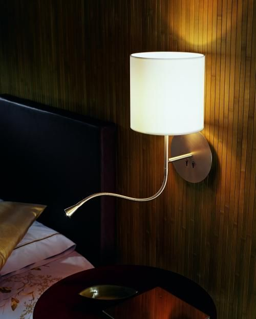 Nymane Wall Lamp With Swing Arm Led Bulb White Ikea Small