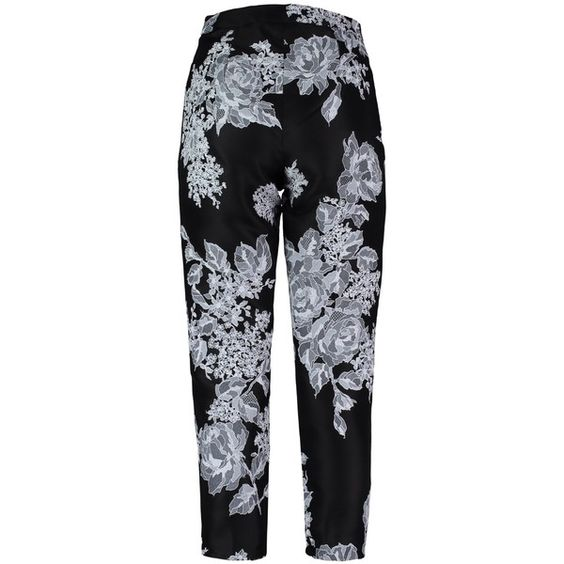 By Sun - Floral Print Trousers (£465) ❤ liked on Polyvore featuring pants, trousers, floral trousers, flower print pants, floral print trousers, floral printed pants and cropped trousers