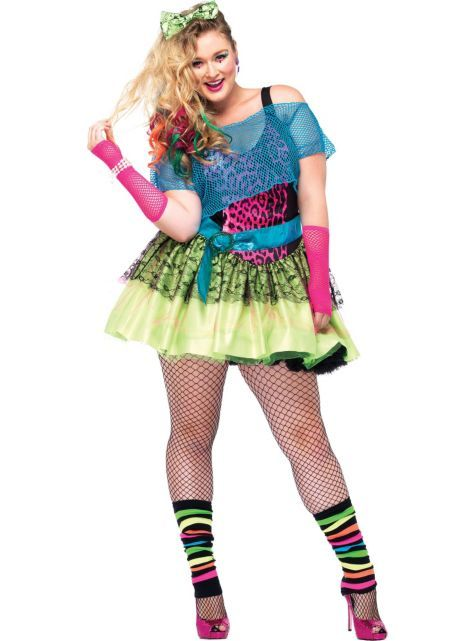 Adult totally tubular tina 80s costume plus size party city
