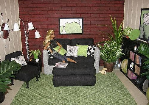 https://flic.kr/p/6jxL5o | A Twist of Lime, 1:6 Living Room | Handcrafted, OOAK, fashion doll furniture in 1:6 scale from Abigail's Joy.  Please visit my website Abigail's Joy