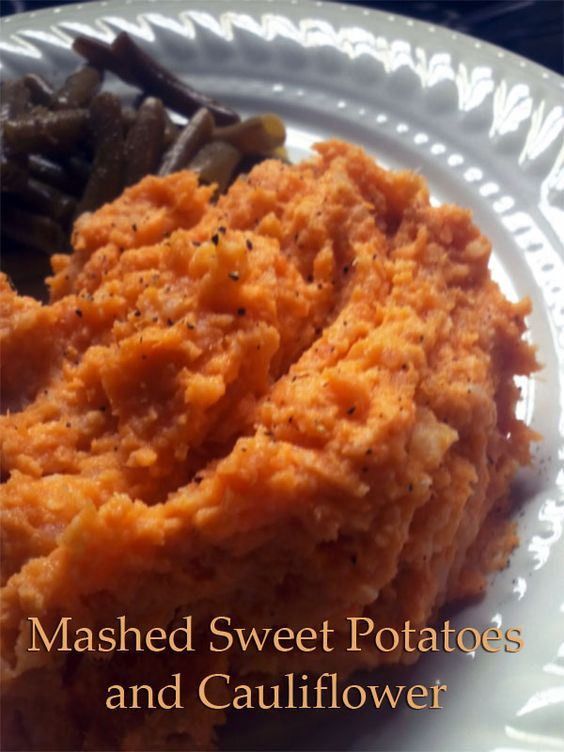 Mashed sweet potatoes, Cauliflower recipes and Cauliflowers on ...