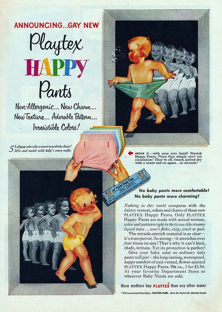 Playtex Rubber Baby Pants Vintage Ads Pinterest