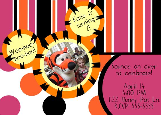 Boys Boy or girl and Invitations – Tigger Birthday Party Invitations