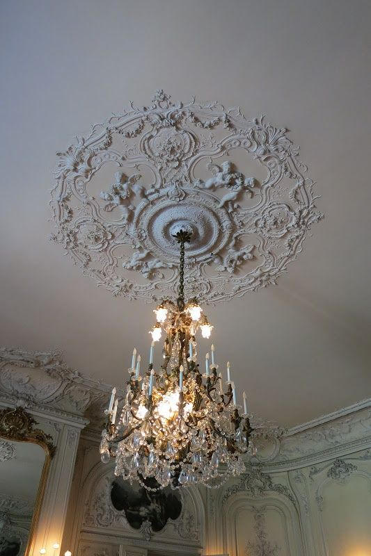 Ceiling Medallions Pleasing Elms Interiors Newport  The Elms Ceiling Medallion In The Ballroom Design Inspiration