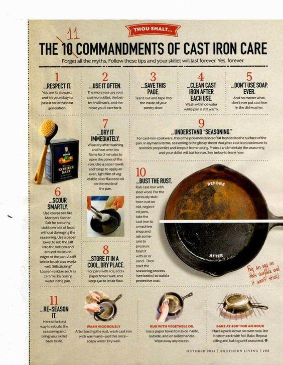 From Epicurious. . . Cast Iron Care Http://Www.Epicurious.Com