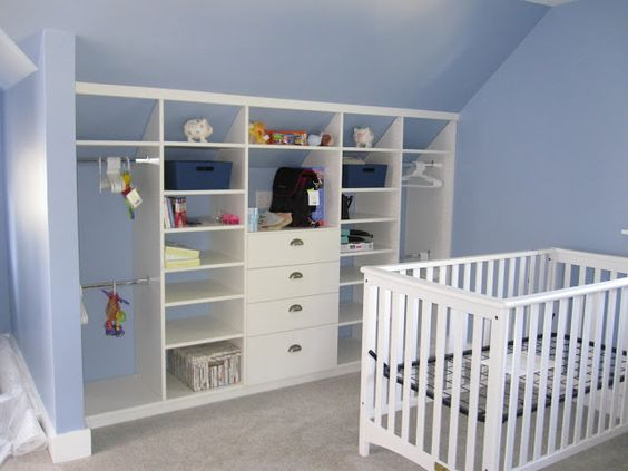 Good Idea Of Space Use In A Cape Cod Upstairs Closet