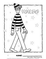 Wheres Waldo Coloring Page Sketch Coloring Page