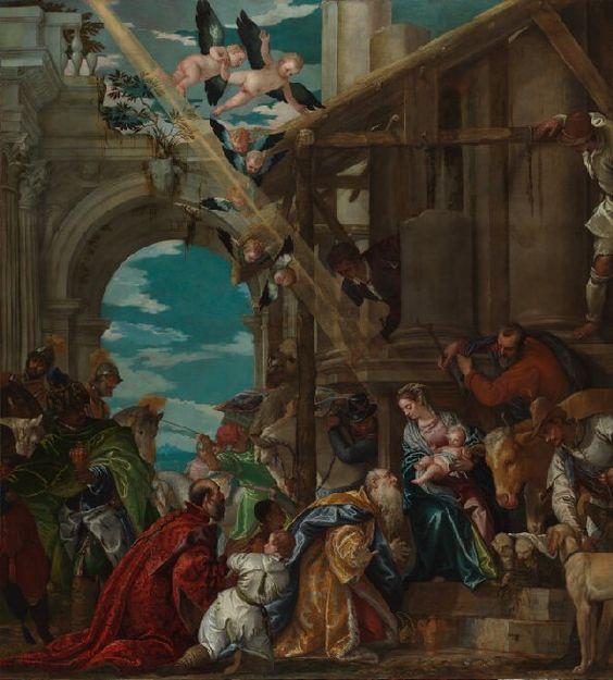 The Adoration of the Kings / La Adoración de los Reyes // 1573 // Paolo Veronese // © The National Gallery, London // #Jesus #Christ #Epiphany