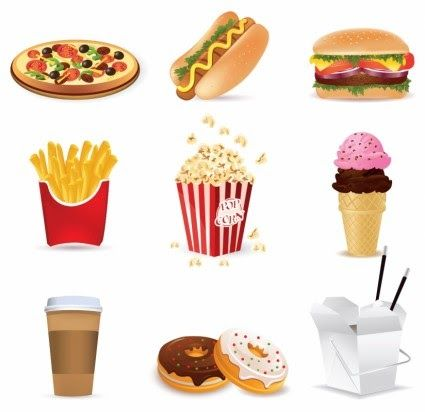 30 Gambar Makanan Junk Food Kartun Cartoon Fast Food Vector Vector Cartoon Free Vector Free Download Junk Fo Food Cartoon No Junk Food Challenge Junk Food