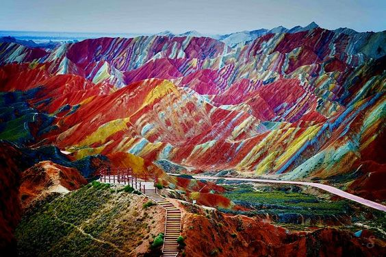 China, Rainbow Moutains