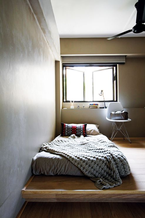 Dwell Interior Design | Home & Decor Singapore, raised platform for bed and reading chair - Dwell Interior Design Home & Decor Singapore, Raised Platform