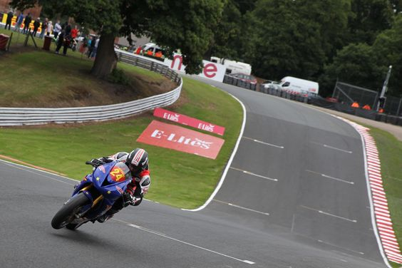 Flying round the track at Oulton Park