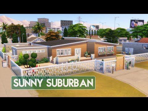 Sims 4 House Building Sunny Suburban Youtube Sims 4 House Building Sims 4 Houses Building A House