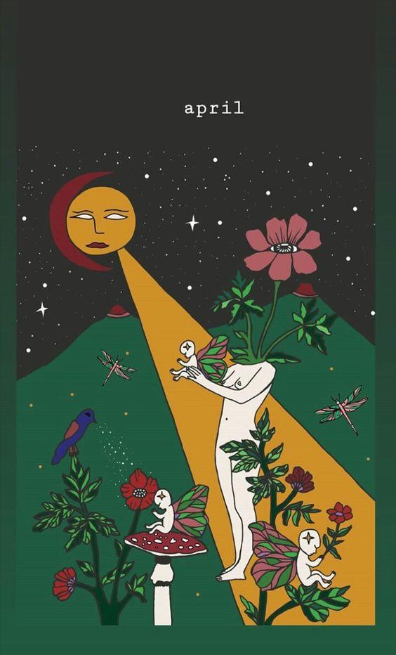 ️️ #april #art #flowerart #artgroupboard #mystic